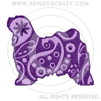 Embroidered Paisley Norwich Terrier Gifts