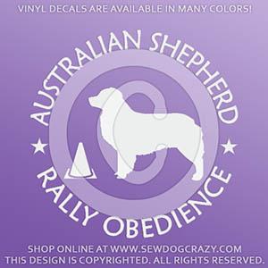 Australian Shepherd RallyO Decals