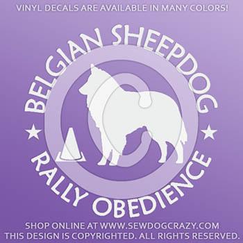 Belgian Sheepdog Rally Decals