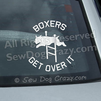 Agility Boxer Car Stickers