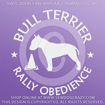 Vinyl Bull Terrier Rallyo Stickers