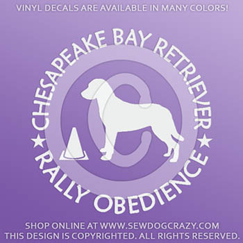 Chesapeake Bay Retriever Rally Decals