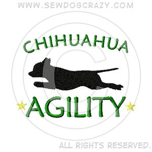 Embroidered Chihuahua Agility Shirts