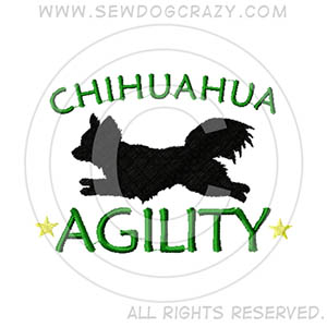Longhaired Chihuahua Agility Shirts