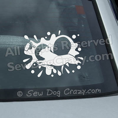 French Bulldog Dock Diving Decals