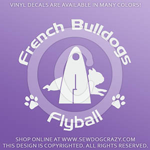 French Bulldog Flyball Decals