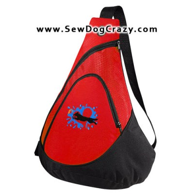 Embroidered German Shepherd Dock Jumping Bags