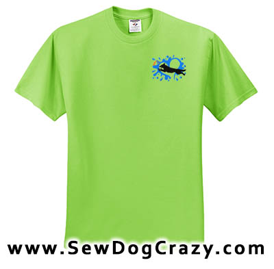 Embroidered German Shepherd Dock Jumping Tshirts