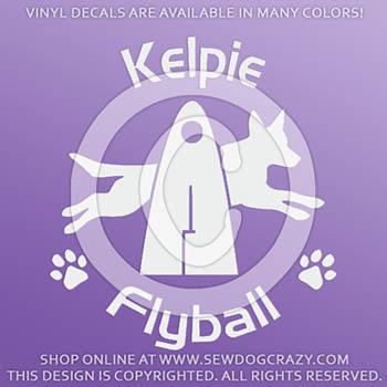 Kelpie Flyball Decals