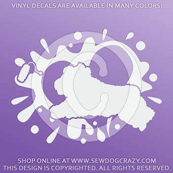 Old English Sheepdog Dock Diving Decals