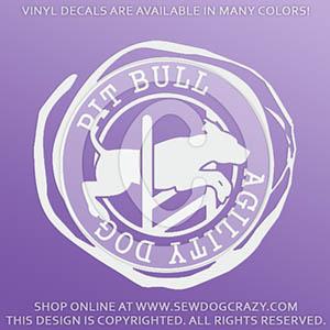 Vinyl Agility Pit Bull Decals