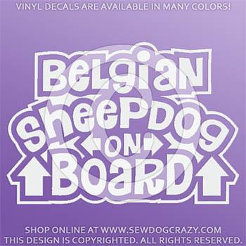Belgian Sheepdog On Board Vinyl Decals