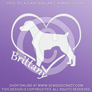 Heart Brittany Decal