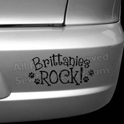 Brittanies Rock Bumper Sticker