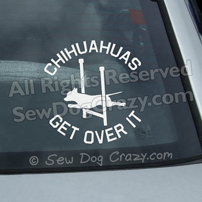 Funny Chihuahua Agility Car Window Stickers