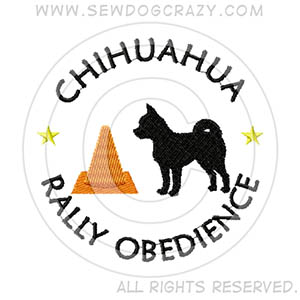 Embroidered Chihuahua RallyO Gifts