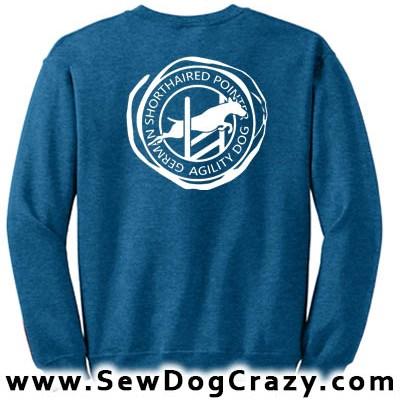 German Shorthaired Pointer Agility Sweatshirts