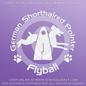 German Shorthaired Pointer Flyball Decals