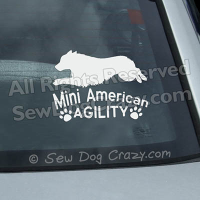 Miniature American Shepherd Agility Sticker