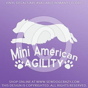 Miniature American Shepherd Agility Decal