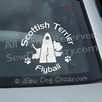 Scottish Terrier Flyball Vinyl Decals