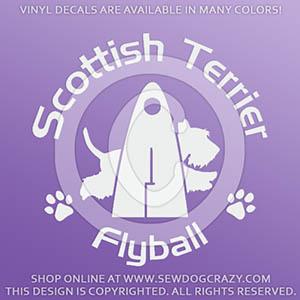 Scottie Flyball Stickers