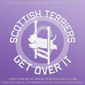 Funny Scottish Terrier Agility Decals