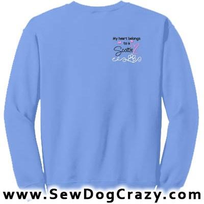 Embroidered Scottish Terrier Sweatshirts