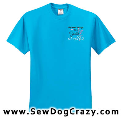 Embroidered Scottish Terrier Tees