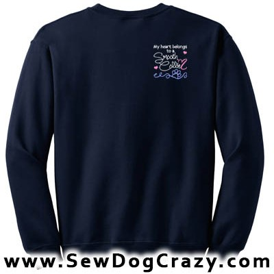 Embroidered Smooth Collie Sweatshirt