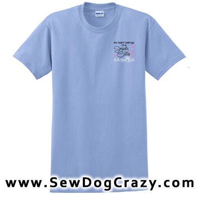 Embroidered Smooth Collie TShirts