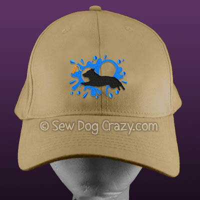 Embroidered Swedish Vallhund Dock Jumping Hats