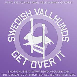 Funny Swedish Vallhund Agility Decals