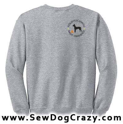 Embroidered Xoloitzcuintli RallyO Sweatshirt