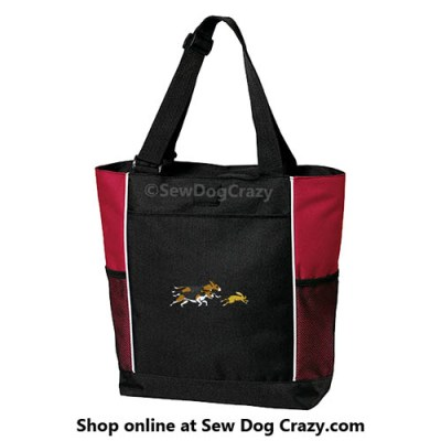 Embroidered Beagles Hunting Bunnies Bag