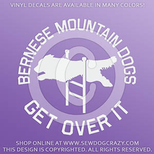 Bernese Mountain Dog Agility Vinyl Decals