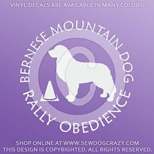 Bernese Mountain Dog RallyO Decals