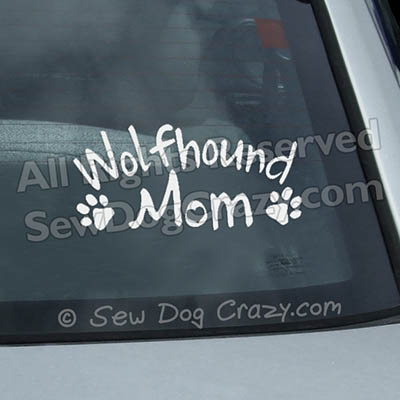 Irish Wolfhound Mom Window Decals