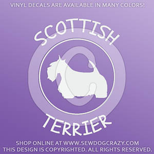 Scottish Terrier Vinyl Decals