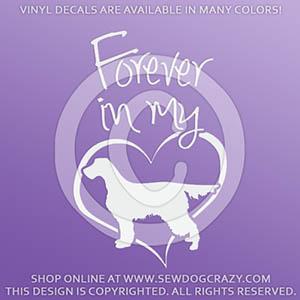 Forever In My Heart Gordon Setter Vinyl Decals