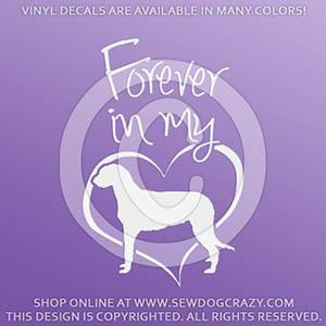 Forever In My Heart Irish Wolfhound Vinyl Sticker