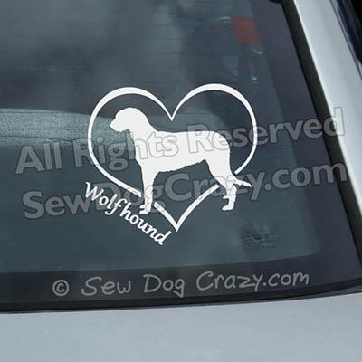 Love my Irish Wolfhound Window Decal