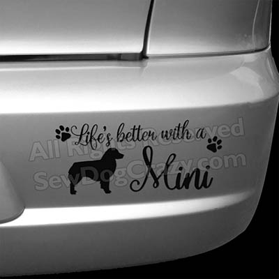Cute Miniature American Shepherd Decals