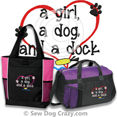Embroidered Women's Dock Diving Bags
