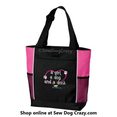 Cute Embroidered Dock Diving Tote
