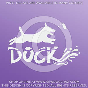 Dock Diving Jack Russell Decal