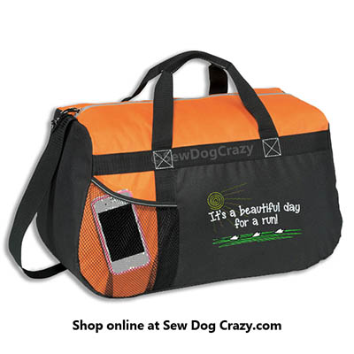 Embroidered Lure Coursing Duffel