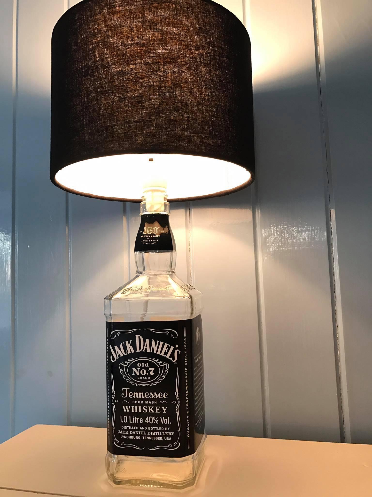 Jack daniels bottle lamp black linen lampshade sew dotty jack daniels bottle lamp black linen lampshade 4799 aloadofball Images