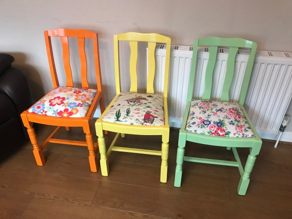 Various Cath Kidston gloss chairs