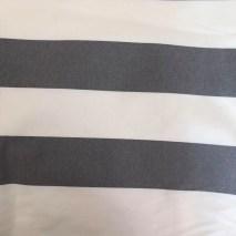 45 deckchair stripe grey and white